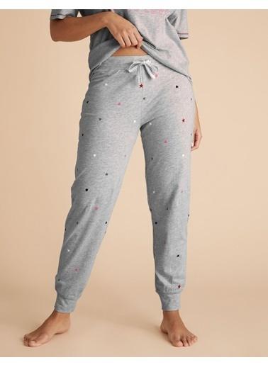 Marks & Spencer Yıldız Desenli Pijama Altı Gri
